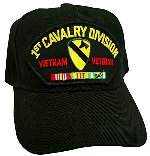 US Army Vietnam 1st Cavalry Veteran w/ Service Ribbons Low-Profile Ball Cap (1st Cavalry Ball Cap)