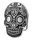 Buckle Rage BLACK Mexican Katrina Dia De Muertos Skull Belt Buckle
