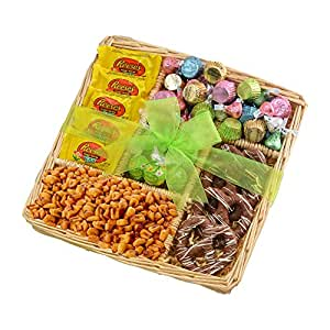 Broadway Basketeers Easter Basket 5 Section Chocolate Easter Gift Tray Easter Basket Assortment - Springtime Easter Gift Tray