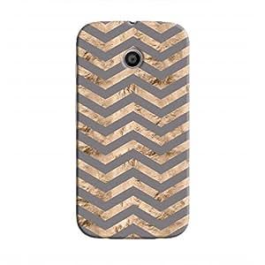 Cover It Up - Brown Grey Tri Stripes Moto E Hard case