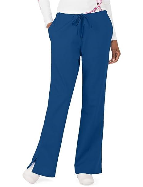 234252b574b Cherokee Workwear Women's 4101 Flare Leg Drawstring Scrub Pant- Galaxy  Blue- XX-Small