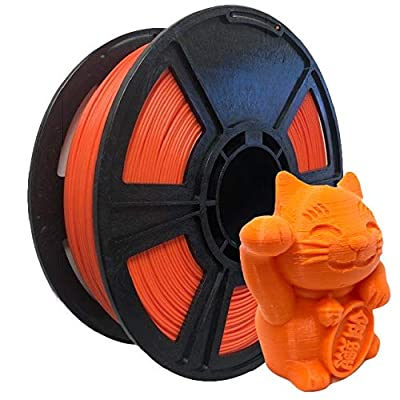 Orange PLA 3D Printer Filament 1.75mm - 2.2lbs / 1kg - Made in The USA