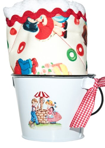 Retro Candy Kids Boy Burp Cloth & Bucket (Rick Rack Vintage)