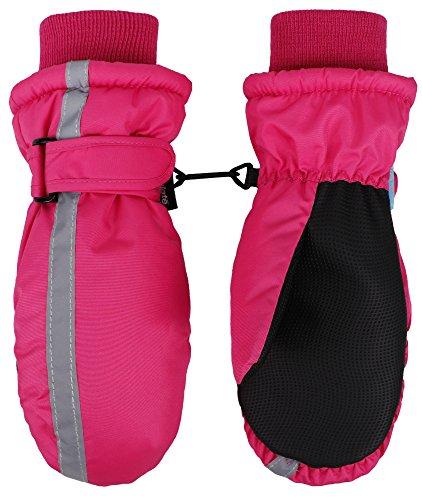 [SimpliKids Girls 3M Thinsulate Waterproof Winter Snow Ski Mitten Gloves, Fuchsia] (Ice Skating Costume Ideas)