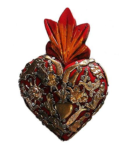 - Fandango Wood Milagros Charms Heart Mexican Folk Art