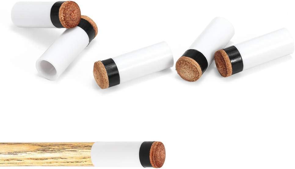 10PCS Pool Cue Tips Hard Plastic Cue Stick F/érulas Billiard Cue Head 12MM Walmeck 13MM