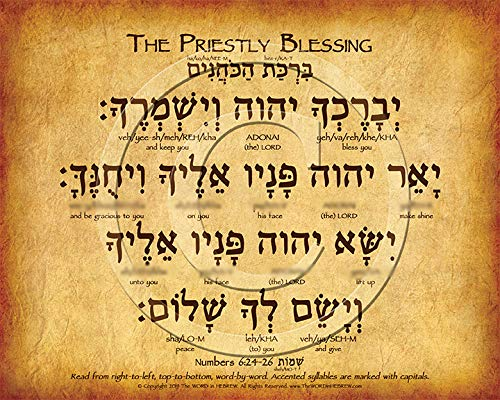 The Priestly Blessing in Hebrew Poster V.1 (8