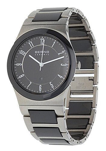 BERING Time 32235-747 Mens Ceramic Collection Watch with Stainless steel Band and scratch resistant sapphire crystal. Designed in Denmark.