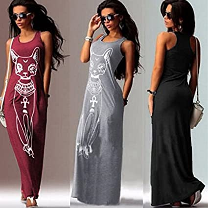 Digital baby 15 Colors Summer Womens Dress Maxi dress Tank Top Ankle Length Long dress Casual