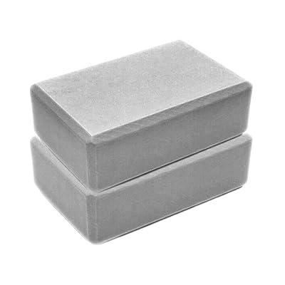 haoricu Yoga Block,Exercise Fitness Foam Bolster Pillow Cushion, High Density Comfortable EVA Foam Yoga Blocks (23158CM, Gray): Clothing