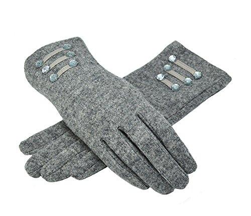 lenikisレディースウール手袋冬暖かい手袋