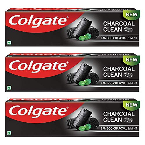 Colgate Charocoal Clean Black Gel Toothpaste, Bamboo Charcoal & Mint for Clean Mouth & Fresh Breath, 360g, 120g X 3