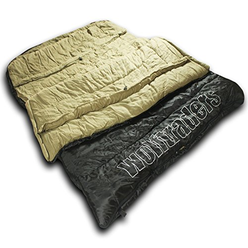 (Wolftraders TwoWolves -30 Degree Premium Ripstop Two Person Sleeping Bag)
