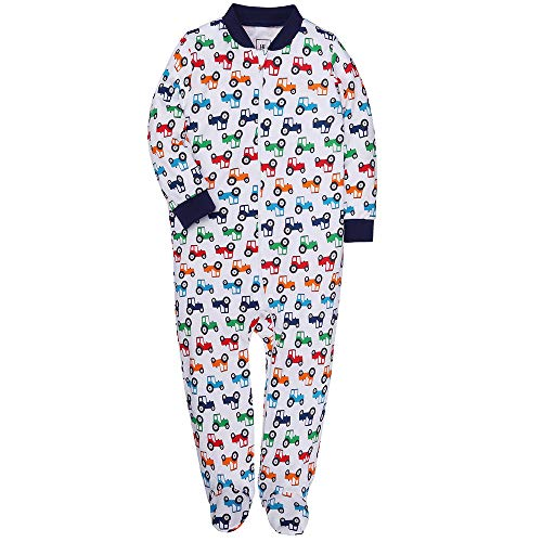 Boys Footed Pajamas Baby Zipper Sleepers Cars Train Romper Toddler Kids Cotton Pjs 18-24 m Moths