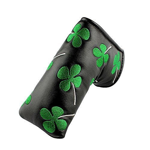 Dark Horse Golf Putter Head cover Shamrock Embroidered Blade for Scotty Cameron Ping TaylorMade Odyssey
