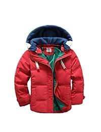 Lemonkids Children Boys Detachable Hooded Winter Anoraks Down Jacket Coat