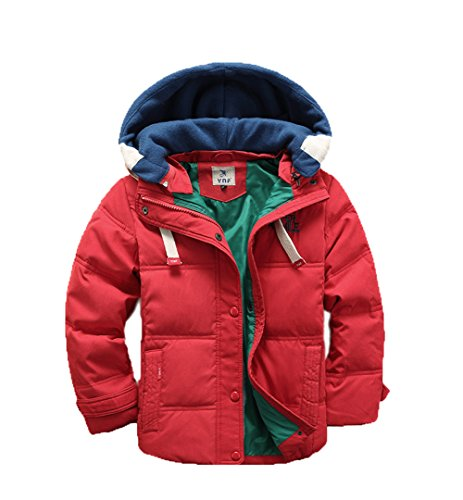 Down Anoraks Coat Hooded Red Jacket Boys Detachable Lemonkids;® Children Winter pqwnB7xHf