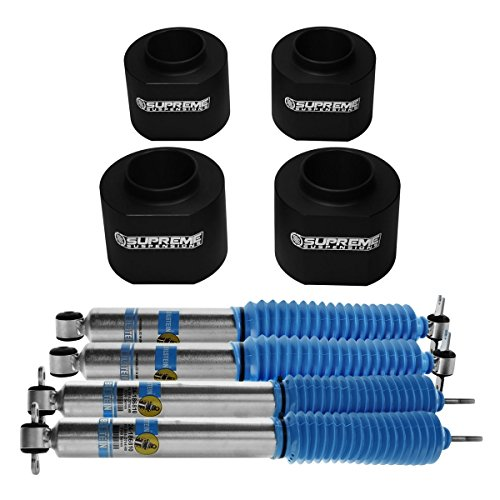 Bilstein Shocks 5100 Series Jeep Wrangler TJ 2 Inch Lift Kit Suspension Coil Spring Spacers