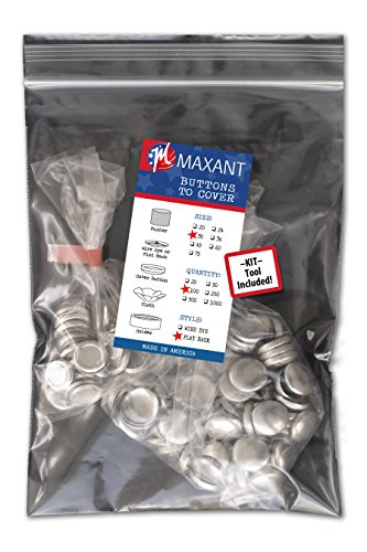 100 Buttons to Cover - Made in USA - Self Cover Buttons with flat backs - size 30 with ()