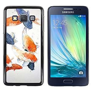 LECELL--Funda protectora / Cubierta / Piel For Samsung Galaxy A3 SM-A300 -- Painting Blue Orange Lagoon --