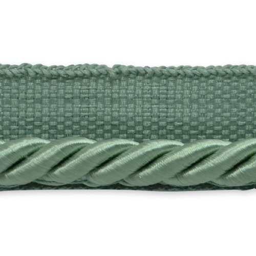 (Expo International 20-Yard Emmerson Twisted Lip Cord Trim Embellishment, 1/4-Inch, Seafoam)