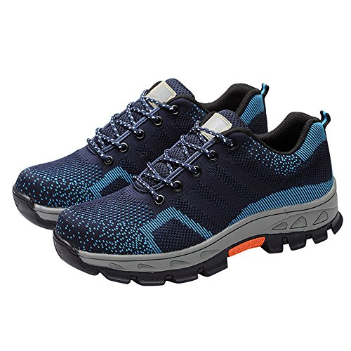 Comp Shoes Shoes Optimal Safety Men's Toe Shoes Steel Work Blue xITIXOq