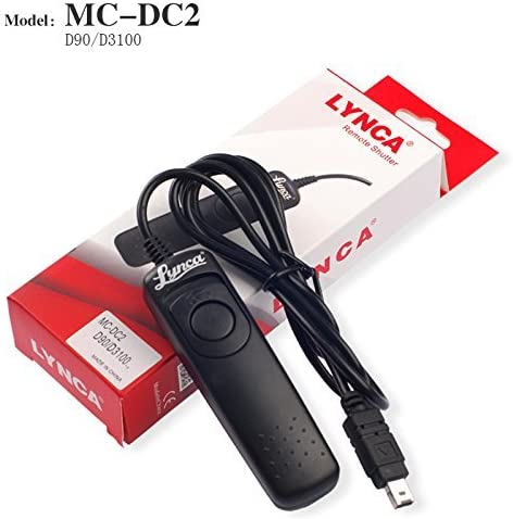 IMZ Wired Remote Shutter Release Cable Cord for D90 D600 D610 D3100 D3200 D3300 D5000 D5100 D5200 D5300 D7000 D7100 Digital Cameras Replacement for MC-DC2
