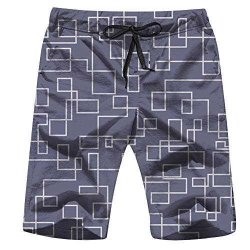 - Fimaliy Ly Tubing Continuous Mens Board Shorts Beach Lightweight Home Casual Shorts Swim-Trunks with Quick Dry XXL
