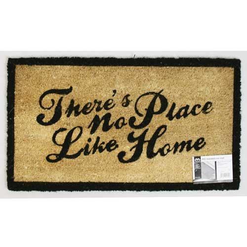 JVL Paillasson No Place Like Home en coco et PVC 40 x 70 cm