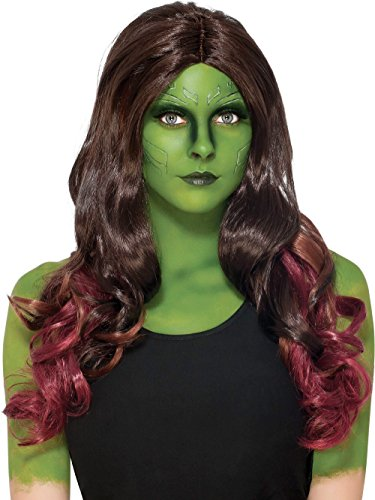 Secret Wishes Women's Guardians Of The Galaxy gamora Costume, GOTG Vol. 2, Wig - Gamora Guardians Costume