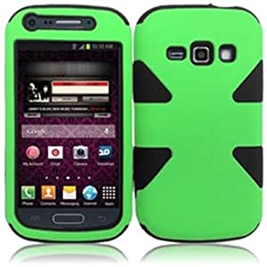 Compatible with Samsung Galaxy Ring M840 Prevail 2 Dynamic Cover - Neon Green+Black