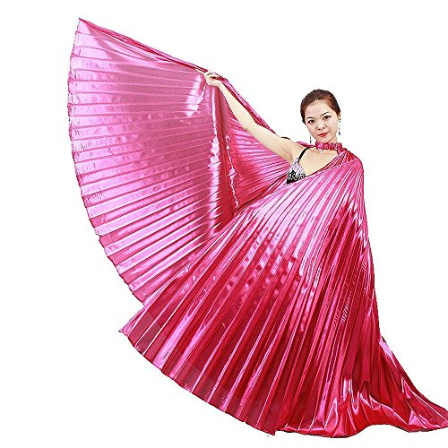 2016 Hot Popular Women Egyptian Belly Dance Isis Wings Golden Belly Dancing Wing (Pink) - Hot Melt Hose