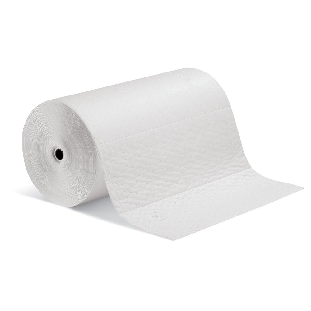 New Pig MAT461 Polypropylene Oil-Only Absorbent Mat Roll, 42.5 Gallon Absorbency, 200' Length x 30'' Width, White