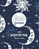 2020 Inspirational Weekly Planner: Gemini Horoscope Sign - Blue Celestial -Dated Yearly Planning Calendar with Motivational Quotes from Women- 2 Pages per Week
