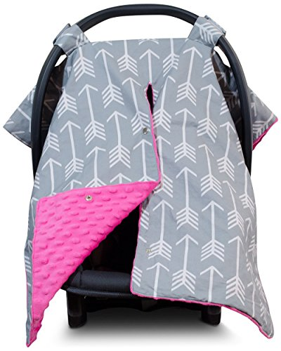 minky car seat cover for girls - 5