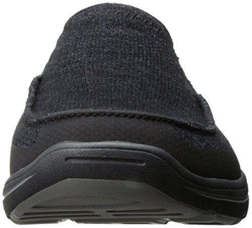 Skechers Harper - Moven Herren Rund Textile Turnschuhe Black
