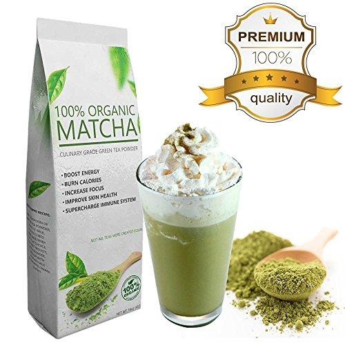 Starter Matcha Green Tea Powder, Certified Organic, Premium Culinary Grade