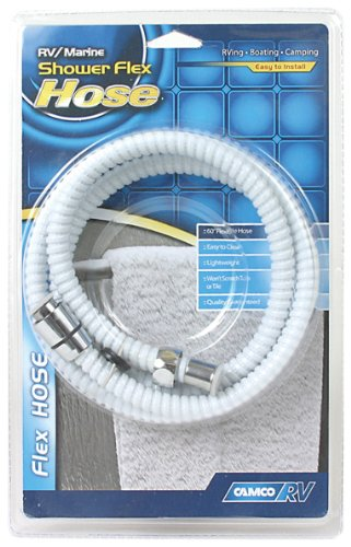 """Camco 43717 RV/Marine 60"""" Flexible Replacement Shower Hose (White)"""