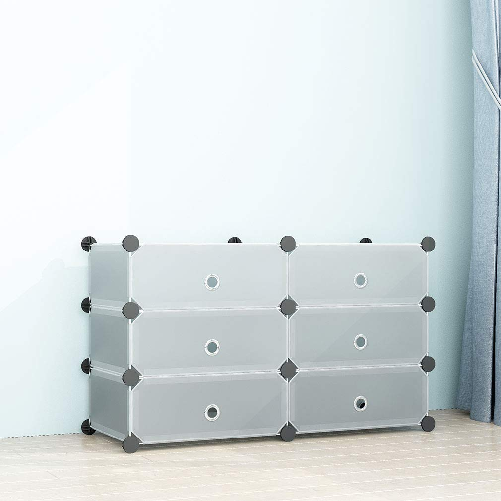 1 * 10 Cubos SIMPDIY Zapatos y Accesorios Sistema de Almacenamiento de la Caja de Zapatos con Organizador de Almacenamiento de Organizador de Zapatos port/átil con Puertas Transl/úcido