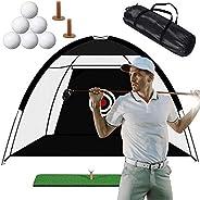 Golf Practice Hitting Net Training Indoor Outdoor Sport Golf Exercise Equipment for Backyard Portable Driving