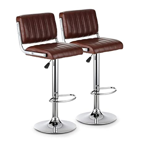 Excellent Amazon Com Lizhixindeng Pu Leather Bar Stools Backs Swivel Andrewgaddart Wooden Chair Designs For Living Room Andrewgaddartcom