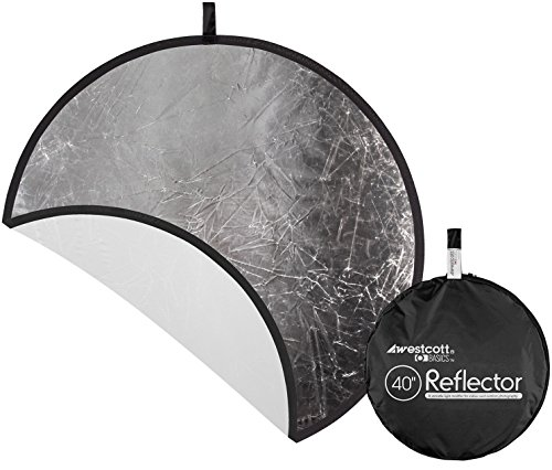 Westcott Collapsible 2-in-1 Silver/White Bounce Reflector (40'') by Westcott