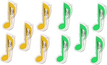 SM SunniMix 2 paquetes de clips de notas musicales para guitarra ...