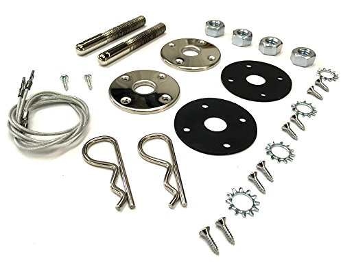 1968 1969 1970 1971 1972 1973 1974 B-Body Charger Road Runner GTX Steel Hood Pin Kit with 25