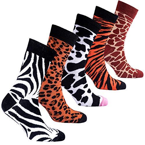 Socks n Socks-Men 5 pk Colorful Cotton Novelty Wild Animals Hunter Sock Gift Box