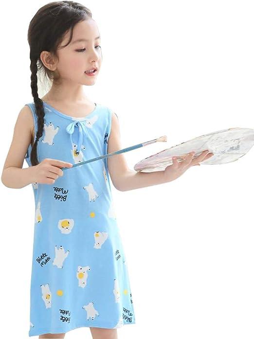 Camisones Camisas De Noche para Niñas Vestido De Niña Pijamas para Niños Algodón Servicio En Casa para Niños Se Puede Usar Afuera (Color : Blue, Size : 100cm): Amazon.es: Hogar