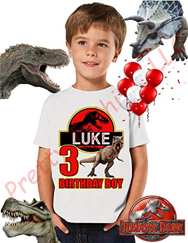 Jurassic park birthday boy shirt, add any name and age, birthday boy's shirt, family matching shirts, jurassic park, jurassic park shirts, tyrannosaurus rex t shirts no.1, please visit our shop -