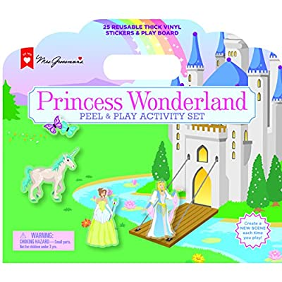 Mrs. Grossman's Princess Wonderland Peel & Play Kids Activity Set with Reusable Vinyl Stickers & Foldout Story Board with Storage & Travel Handle for Boys & Girls Ages 3 & Up: Toys & Games