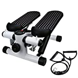 Household Hydraulic Mute Stepper, Aimik Step Air Climber Stepper Twister Aerobic Fitness Exercise Machine w/Resistance Band
