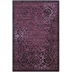 Maples Rugs Area Rugs - Pelham 7' x 10' Non Slip Large Rug [Made in USA] for Living Room, Bedroom, and Dining Room, Wineberry Red